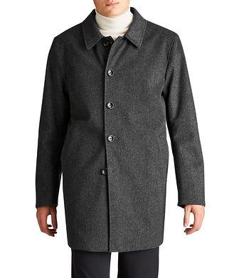 Harry Rosen Gofreddo Reversible Green Storm System® Wool Coat