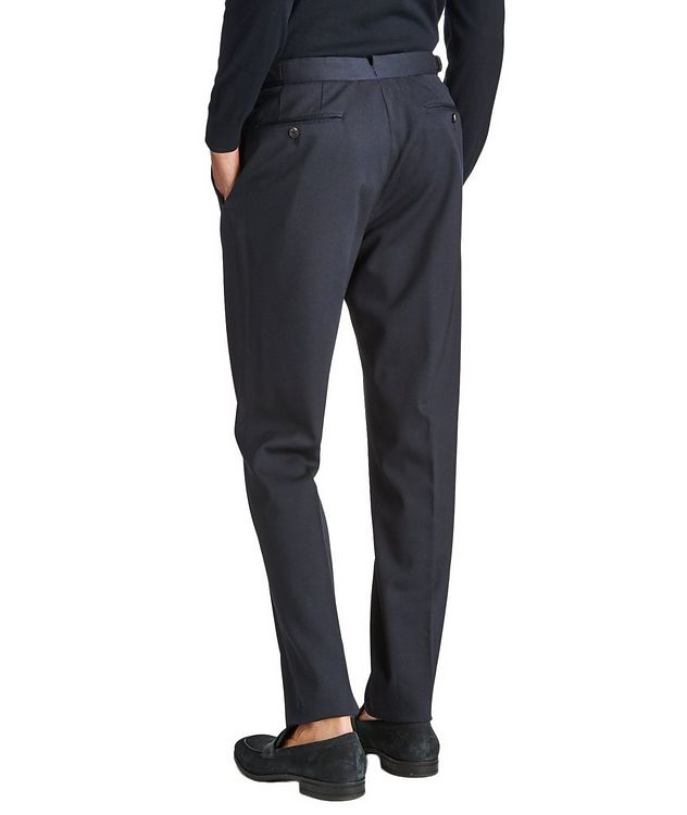Slim Fit Stretch-Wool Trousers picture 2