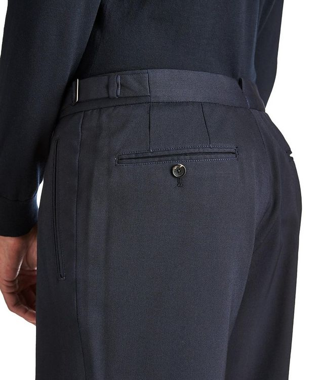 Slim Fit Stretch-Wool Trousers picture 3