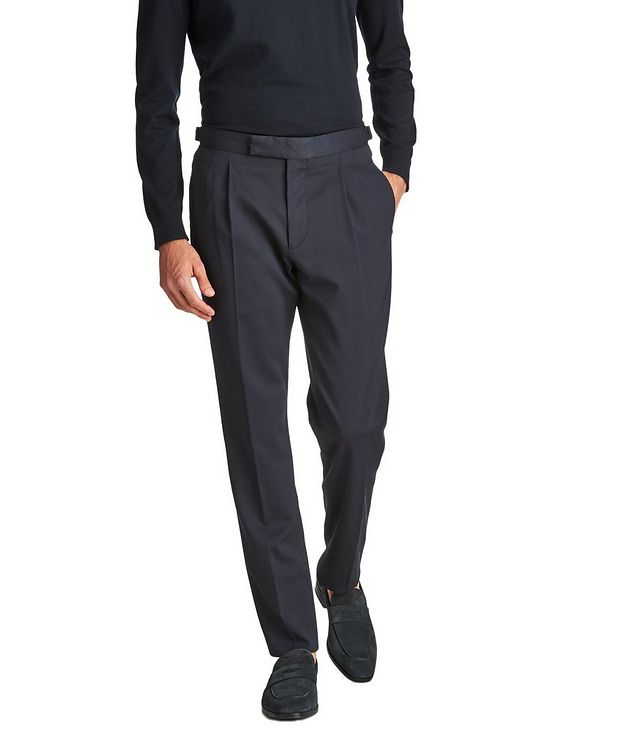 Slim Fit Stretch-Wool Trousers picture 1