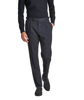 Ermenegildo Zegna Slim Fit Stretch-Wool Trousers