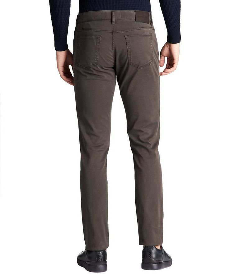 Straight Fit Stretch-Cotton Pants image 1