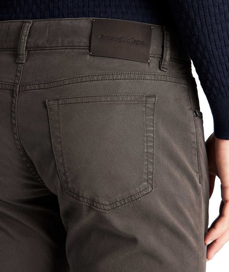 Straight Fit Stretch-Cotton Pants image 2
