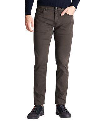 Ermenegildo Zegna Straight Fit Stretch-Cotton Pants
