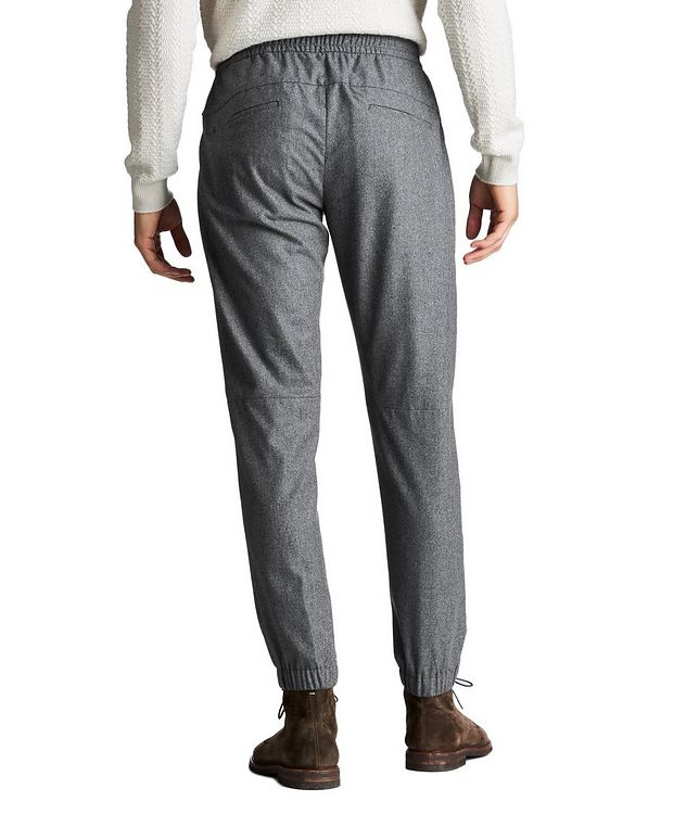 Drawstring Wool, Silk & Cashmere Joggers picture 2