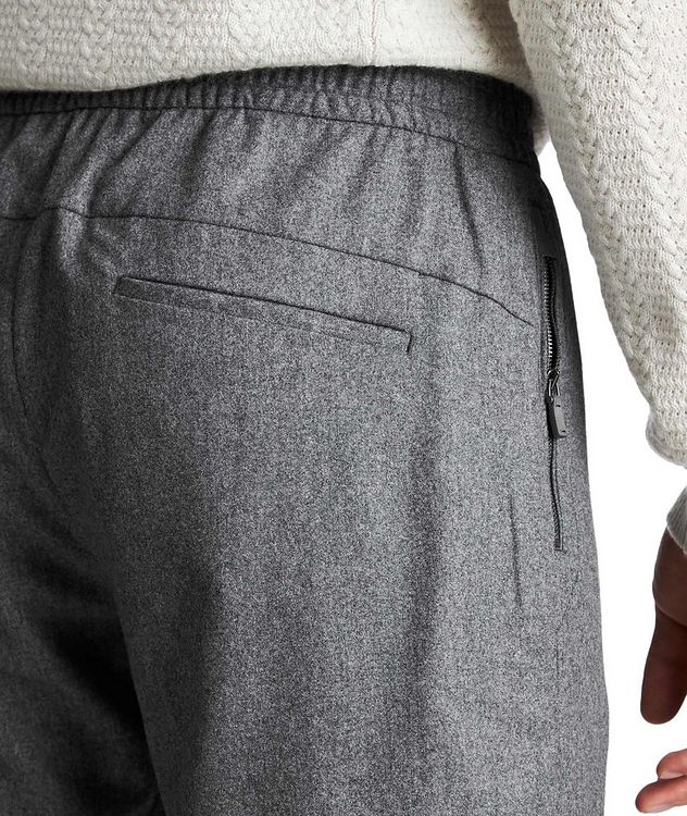 Drawstring Wool, Silk & Cashmere Joggers picture 3