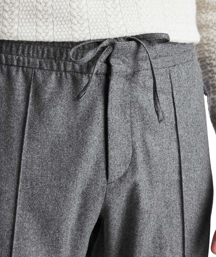 Drawstring Wool, Silk & Cashmere Joggers image 3