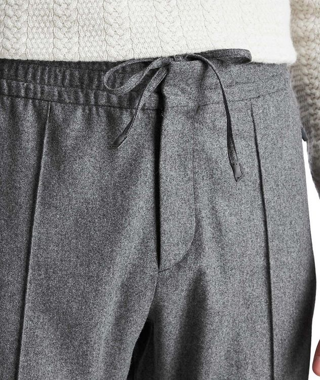 Drawstring Wool, Silk & Cashmere Joggers picture 4