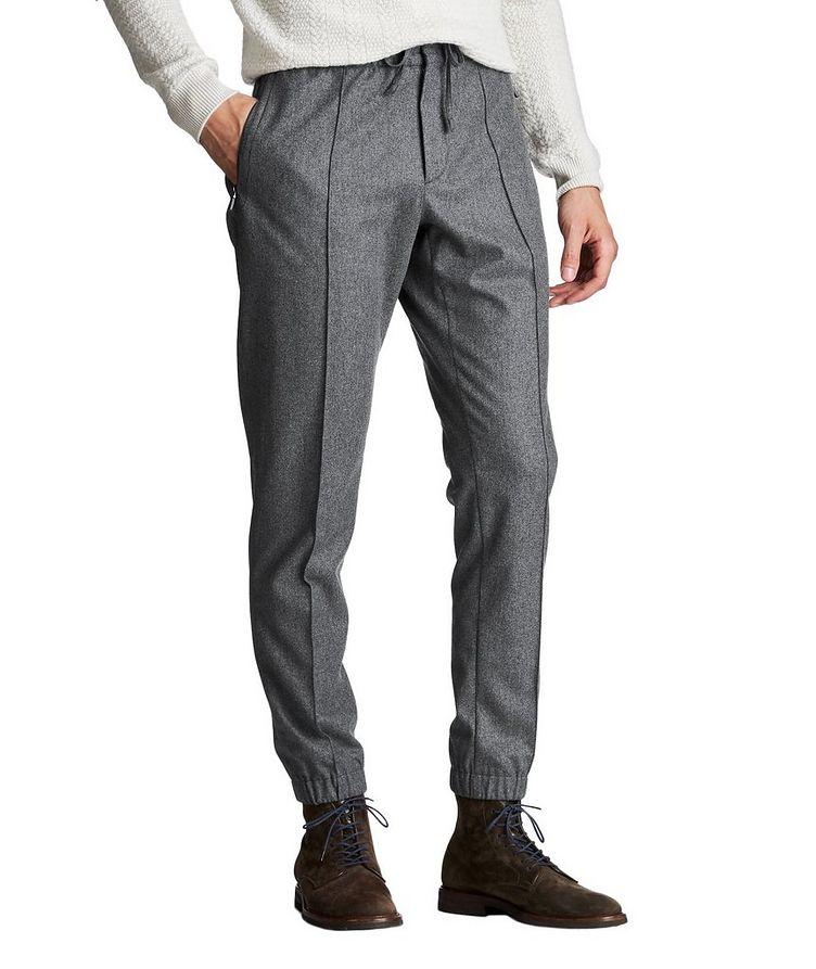 Drawstring Wool, Silk & Cashmere Joggers image 0