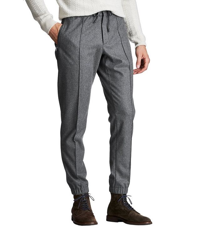 Drawstring Wool, Silk & Cashmere Joggers picture 1
