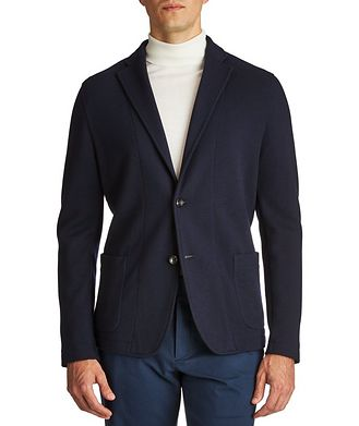 Harry Rosen Contemporary Fit Wool Sweater Jacket