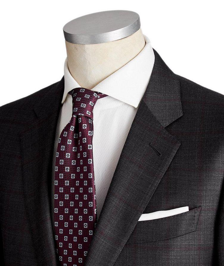 Torino Windowpane-Check Wool-Silk Suit image 1