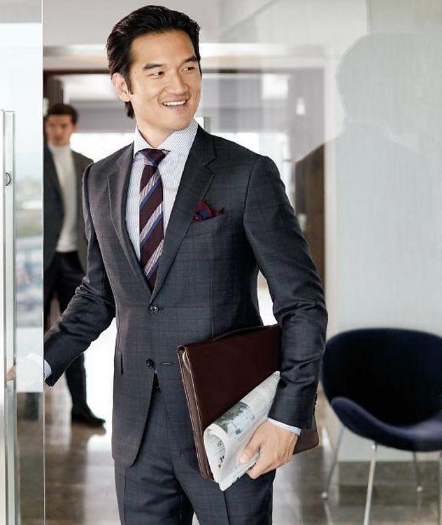 Torino Windowpane-Check Wool-Silk Suit picture 3