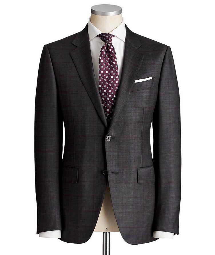 Torino Windowpane-Check Wool-Silk Suit image 0