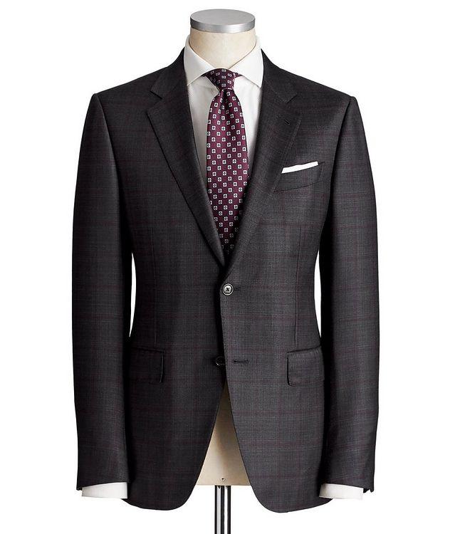 Torino Windowpane-Check Wool-Silk Suit picture 1