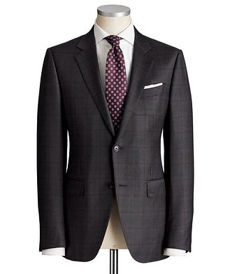 Ermenegildo Zegna Torino Windowpane-Check Wool-Silk Suit