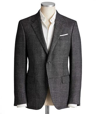 Ermenegildo Zegna Milano Easy Glen-Checked Sports Jacket