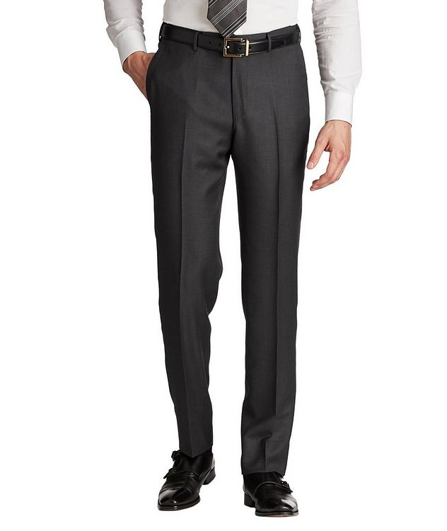 Slim Fit Achill Farm Wool Dress Pants picture 1