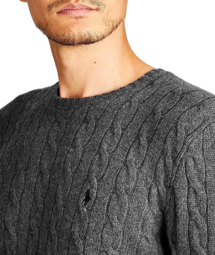 Cable Knit Wool-Cashmere Sweater image 1