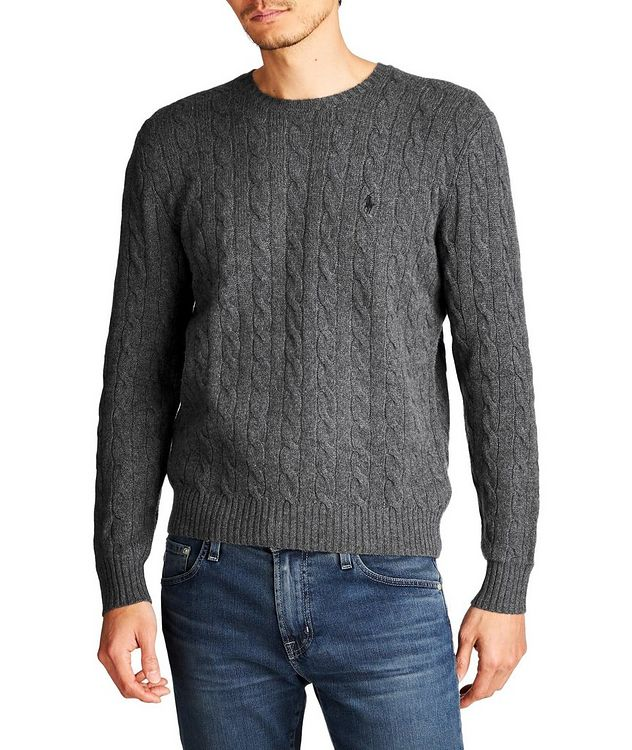 Cable Knit Wool-Cashmere Sweater picture 1