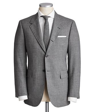 Thom Browne 2-Ply Fresco Wool Wide Lapel Suit
