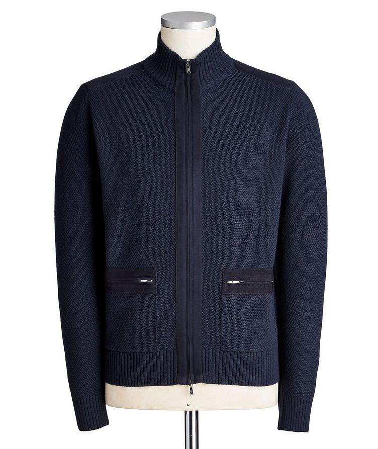 Zip-Up Cashmere Cardigan image 0