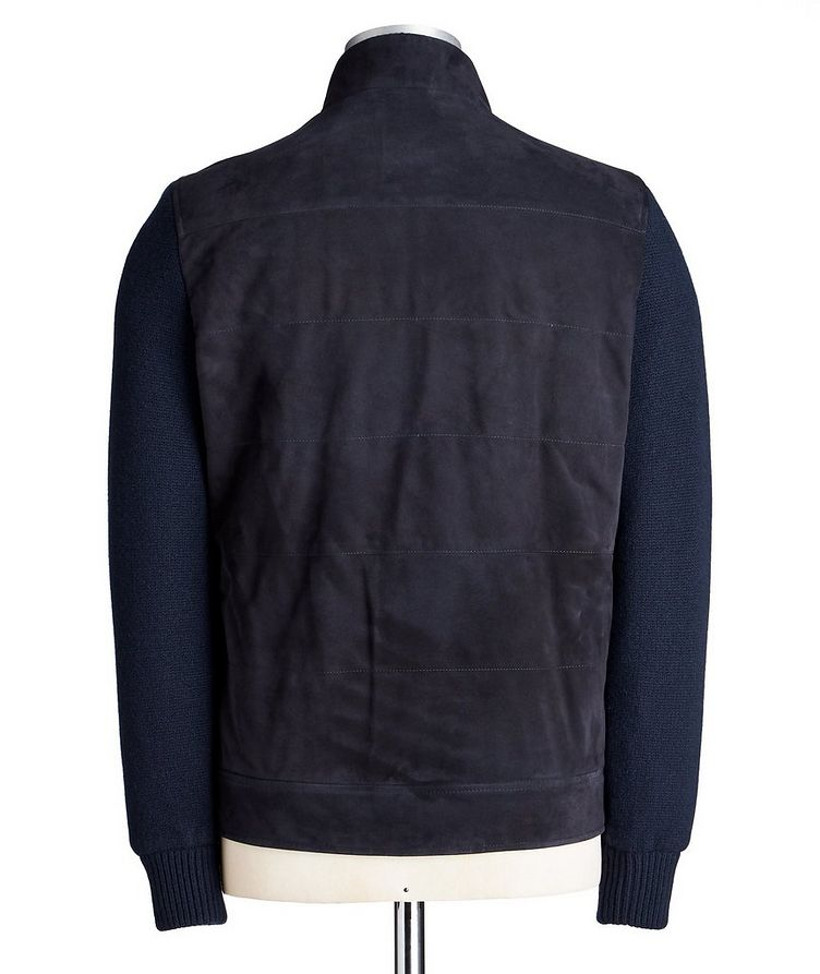 Suede & Wool-Cashmere Swacket image 1