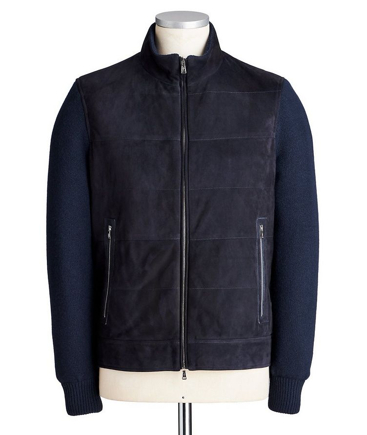 Suede & Wool-Cashmere Swacket image 0