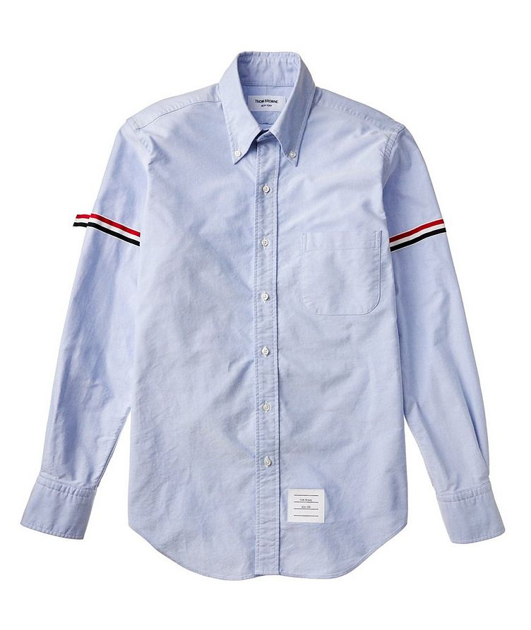Grosgrain-Trimmed Cotton Shirt image 1