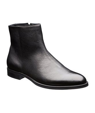 BOSS Coventry Shearling-Lined Leather Ankle Boots