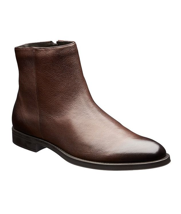 Coventry Shearling-Lined Leather Ankle Boots picture 1