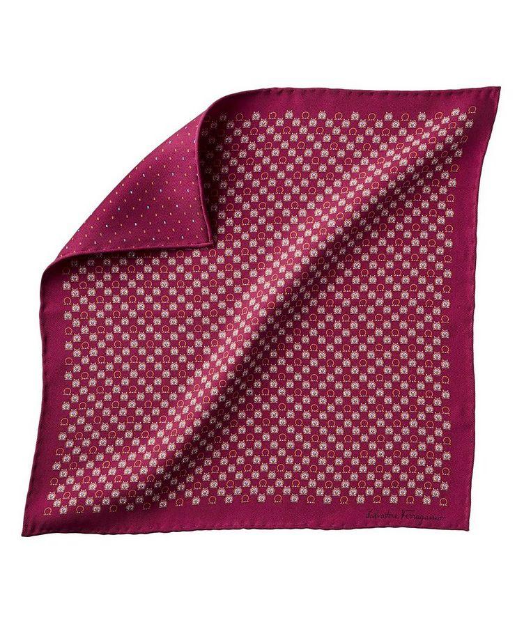 Mouchoir de poche imprimé en soie image 0
