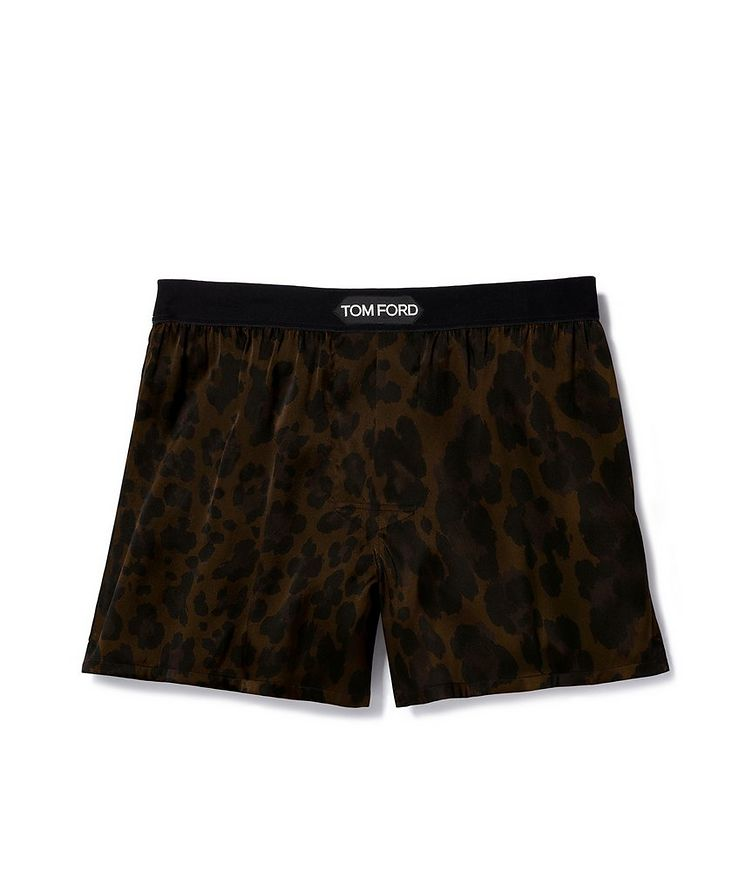 Leopard Print Stretch Silk Boxers image 0