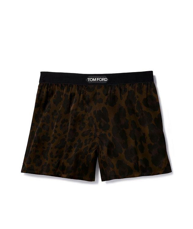 Leopard Print Stretch Silk Boxers picture 1