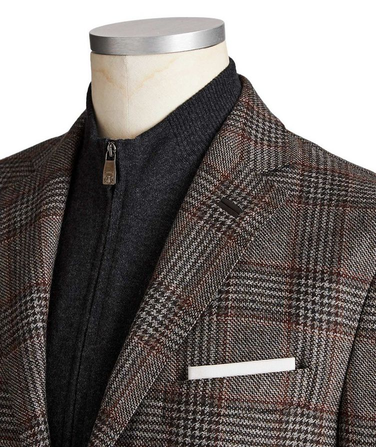 Unstructured Glen-Checked Sports Jacket image 1