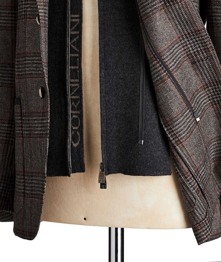 Unstructured Glen-Checked Sports Jacket image 2