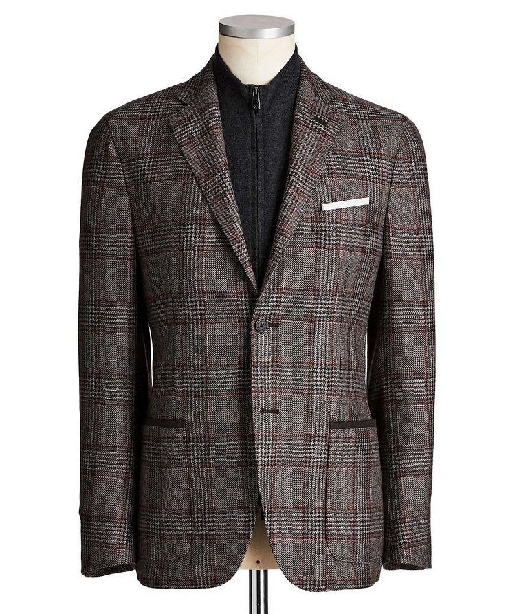 Unstructured Glen-Checked Sports Jacket image 0