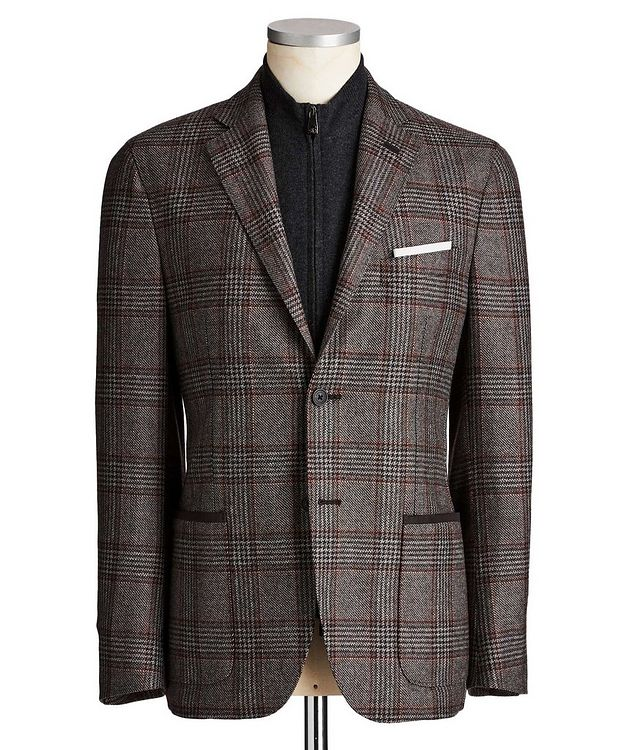 Unstructured Glen-Checked Sports Jacket picture 1