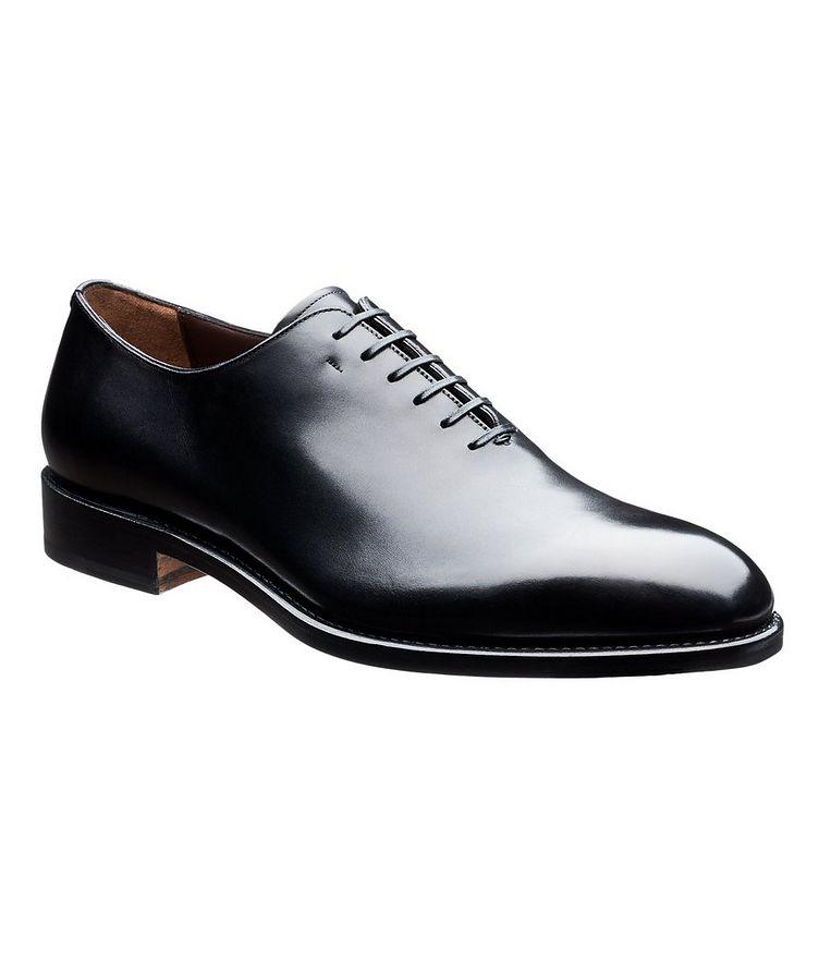 Chaussure lacée en cuir de veau, tige en une seule pièce image 0