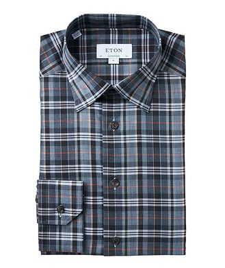 Eton Contemporary Fit Checked Dress Shirt