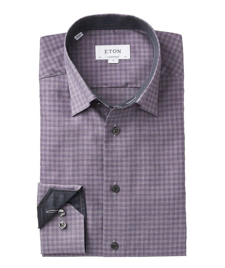 Contemporary Fit Checkered Dress Shirt image 1