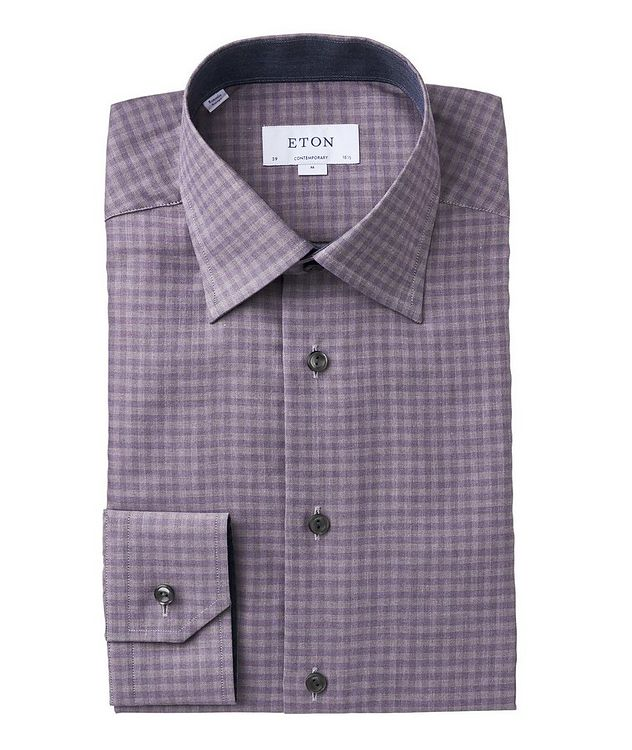 Contemporary Fit Checkered Dress Shirt picture 1