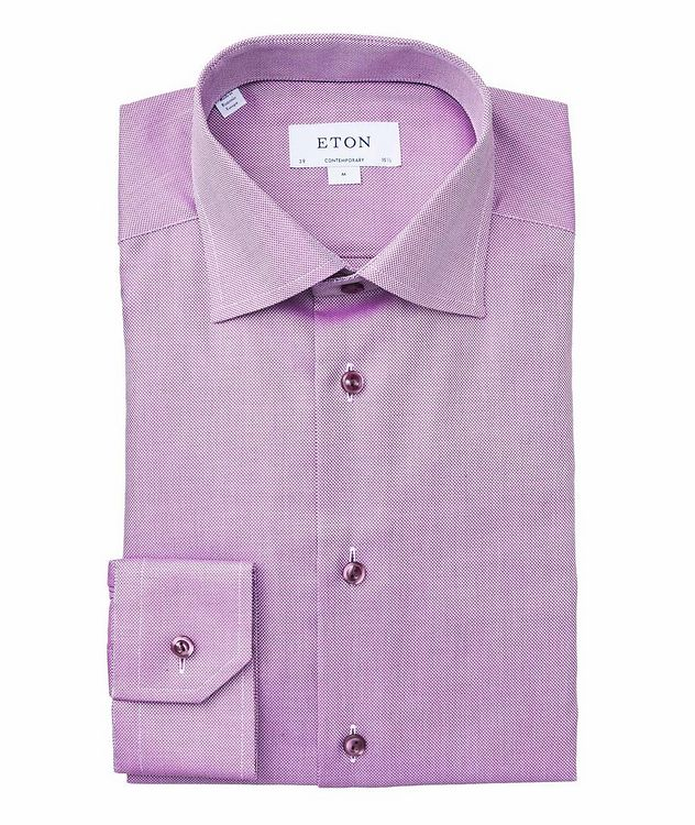 Contemporary Fit Bird's Eye Dress Shirt picture 1