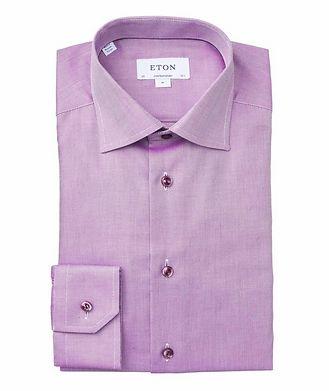 Eton Contemporary Fit Bird's Eye Dress Shirt
