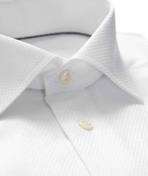Contemporary Fit Tonal Diamond-Printed Dress Shirt picture 2