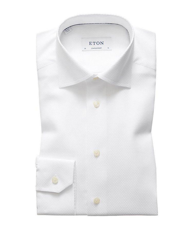 Contemporary Fit Tonal Diamond-Printed Dress Shirt image 0