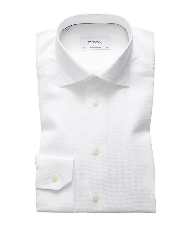 Contemporary Fit Tonal Diamond-Printed Dress Shirt picture 1