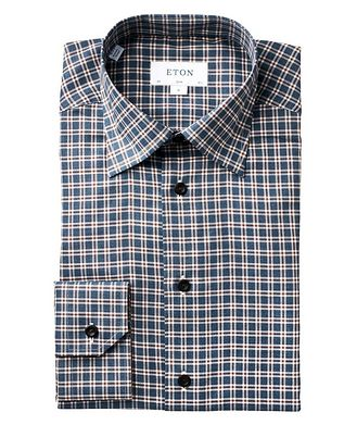 Eton Slim Fit Checked Dress Shirt