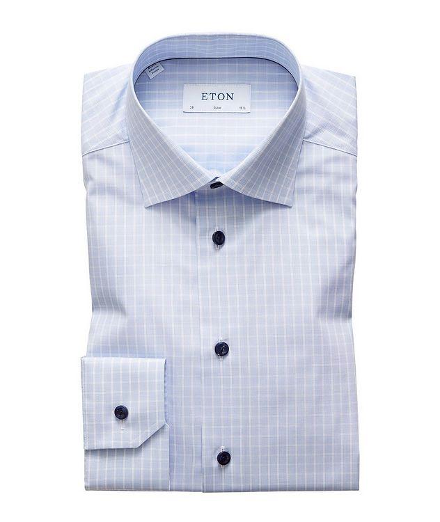 Chemise habillée quadrillée de coupe amincie picture 1