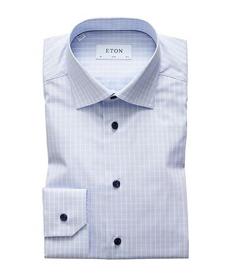 Eton Slim Fit Checked Dress Shirt
